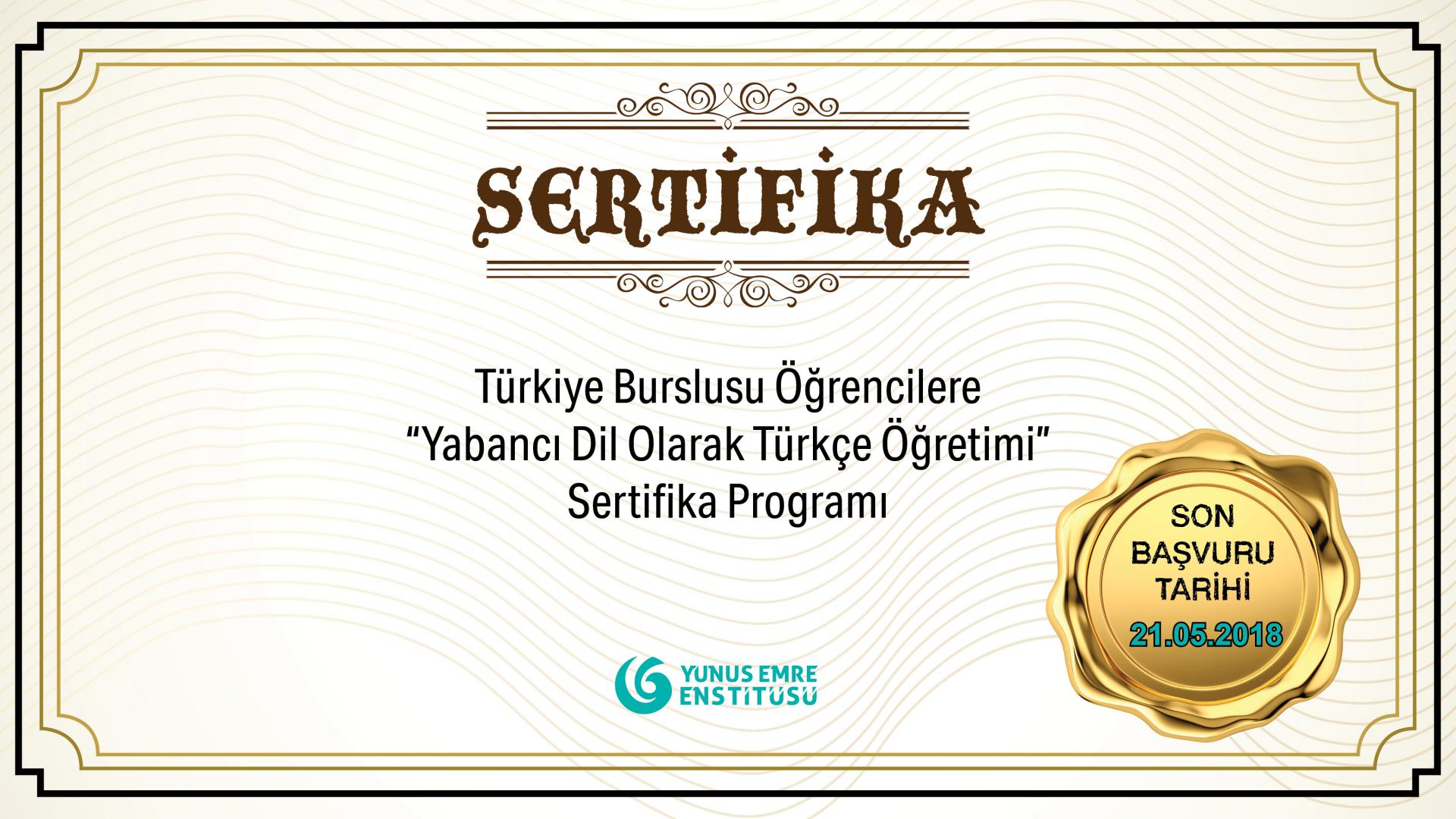 """Certificate Program for """"Teaching Turkish as a Foreign"""